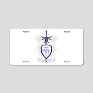 St. Michael's Sword Aluminum License Plate