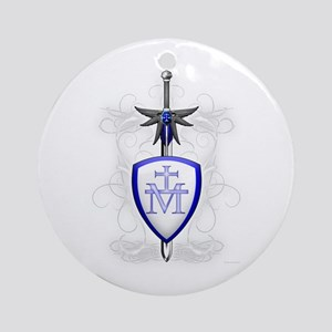St. Michael's Sword Ornament (Round)