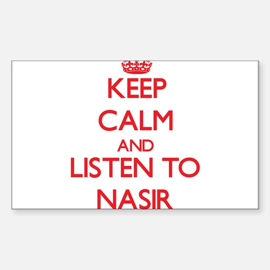 Keep Calm and Listen to Nasir Bumper Stickers