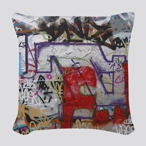 Graffiti Woven Throw Pillow