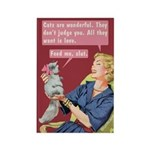 Cats Are Wonderful By Bluntcard Magnets