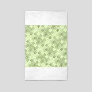 Light Lime Green Crosshatch 3'x5' Area Rug