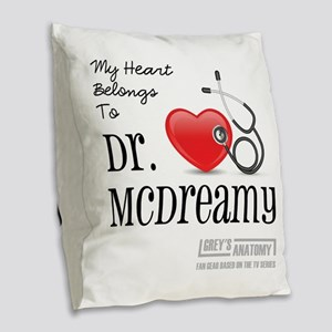 DR. McDREAMY Burlap Throw Pillow