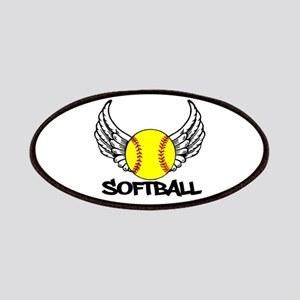 Softball with Wings Patches