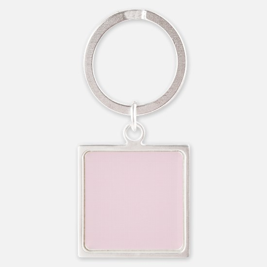 Light Pink and White Checkered Plaid Keychains