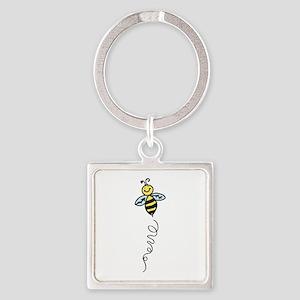 Yellow Bee Keychains