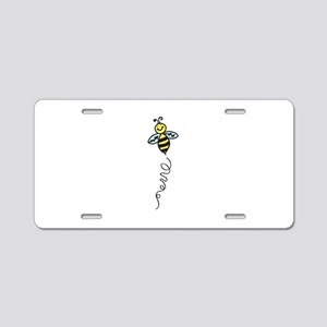 Yellow Bee Aluminum License Plate