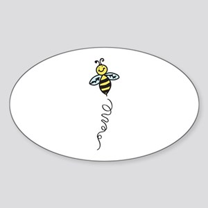 Yellow Bee Sticker