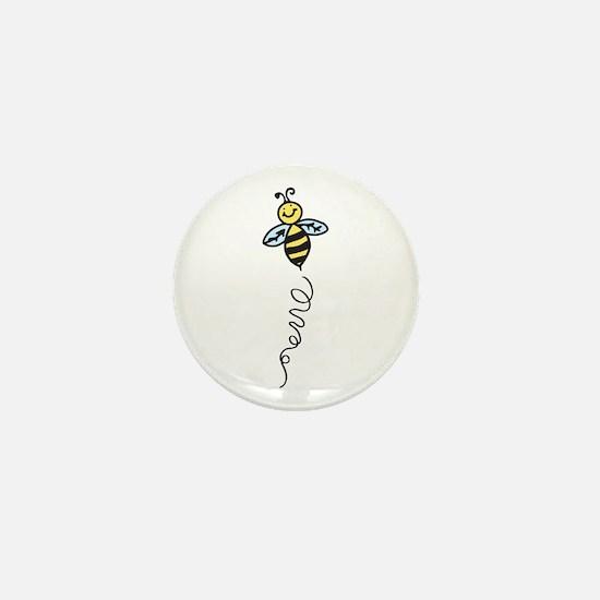 Yellow Bee Mini Button