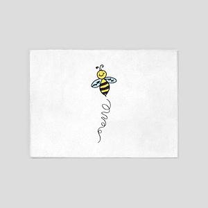 Yellow Bee 5'x7'Area Rug