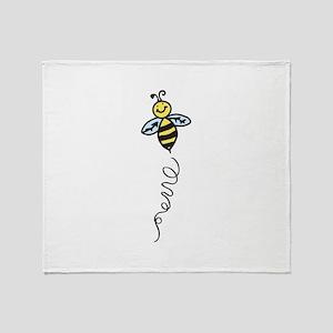 Yellow Bee Throw Blanket