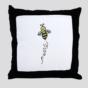 Yellow Bee Throw Pillow