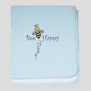 Bee Happy baby blanket