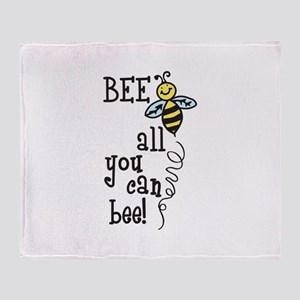 BEE all you can bee! Throw Blanket