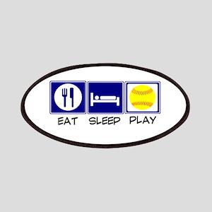 Eat, Sleep, Play Softball Patches