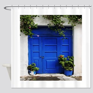 French Quarter Blue Shower Curtain