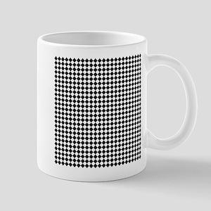 Vintage Black and White Checkered Mugs