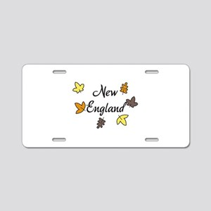 New England Aluminum License Plate