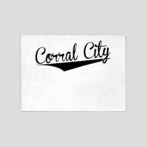 Corral City, Retro, 5'x7'Area Rug