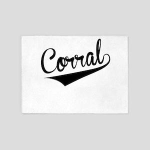 Corral, Retro, 5'x7'Area Rug