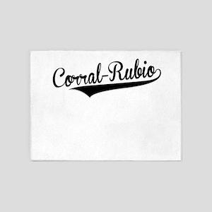 Corral-Rubio, Retro, 5'x7'Area Rug