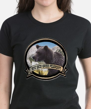 Can you skin Griz bear hunter Women's Dark T-Shirt