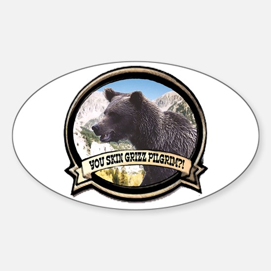 Can you skin Griz bear hunter Oval Decal