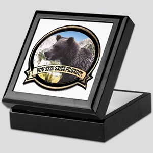 Can you skin Griz bear hunter Keepsake Box
