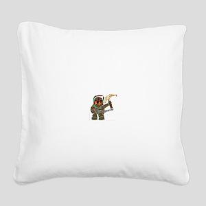 Nautilus Square Canvas Pillow