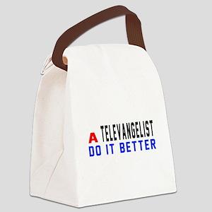 Televangelist Do It Better Canvas Lunch Bag