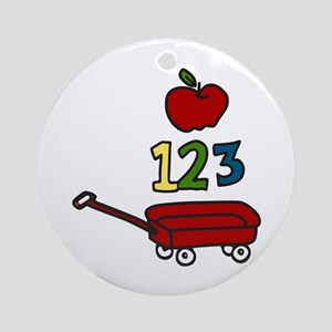 School Wagon Ornament (Round)