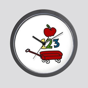 School Wagon Wall Clock