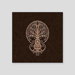 Brown Guitar Tree of Life Sticker