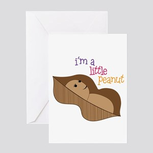 Im a Little Peanut Greeting Cards