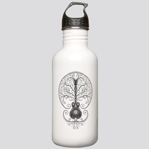Gray Guitar Tree Of Stainless Water Bottle 1.0l