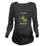 Veggie Junkie Long Sleeve Maternity T-Shirt
