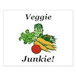 Veggie Junkie Small Poster