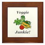 Veggie Junkie Framed Tile