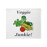 Veggie Junkie Throw Blanket