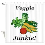 Veggie Junkie Shower Curtain