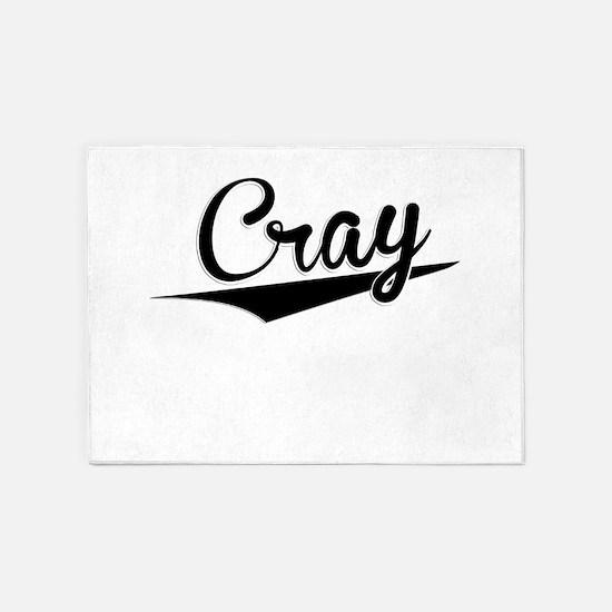 Cray, Retro, 5'x7'Area Rug