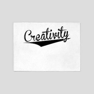 Creativity, Retro, 5'x7'Area Rug