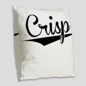 Crisp, Retro, Burlap Throw Pillow