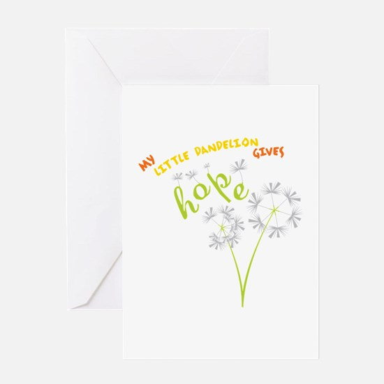 MY LITTLE DANDELION GIVES Hope Greeting Cards