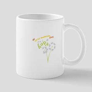 MY LITTLE DANDELION GIVES Hope Mugs