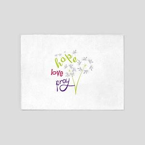 Hope Love pray 5'x7'Area Rug