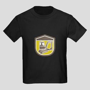 Mechanical Digger Excavator Shield Retro T-Shirt
