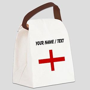 Custom England Flag Canvas Lunch Bag