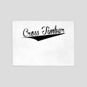 Cross Timber, Retro, 5'x7'Area Rug