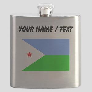 Custom Djibouti Flag Flask